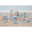 Little Dutch fa építőkockák dobozban adventure kék -G-Baby Boutique