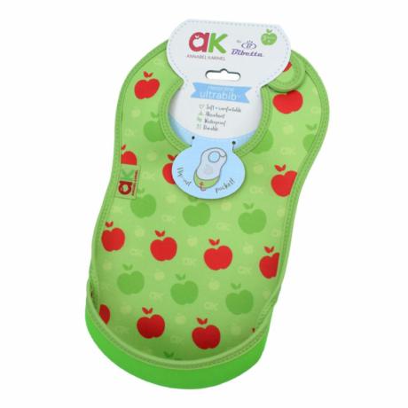 Bibetta előke zöld almás Annabel Karmel design G-Baby Boutique