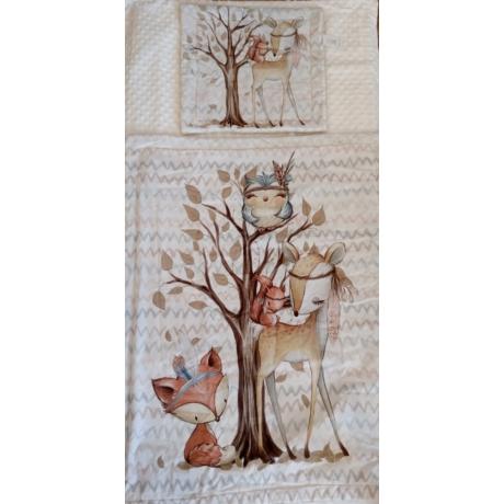 Babaágynemű garnitúra 2 részes erdei indián