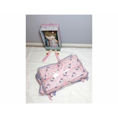 3 részes babágynemű garnitúra rózsaszín unikornis