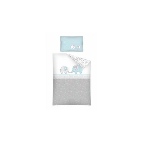 Kék elefántos ocis ágynemű