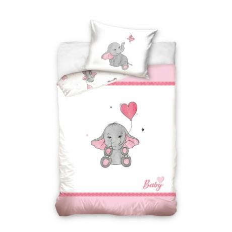 Elefántos ovis ágyneműhuzat rózsaszín