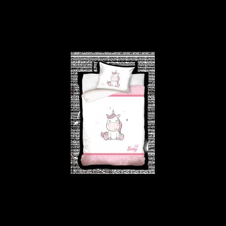 Rózsaszín unikornis ovis ágyneműhuzat