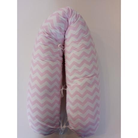 Pihe-puha szoptatós párna rózsaszín chevron