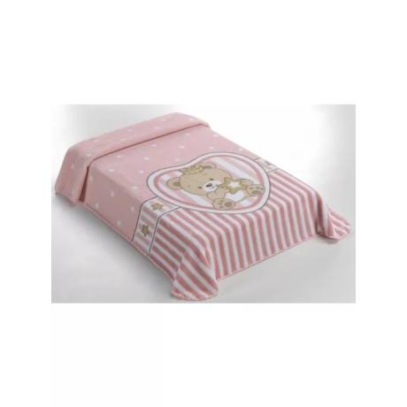 Belpla Baby Sweet Pink rózsaszín pléd, babatakaró  80*110