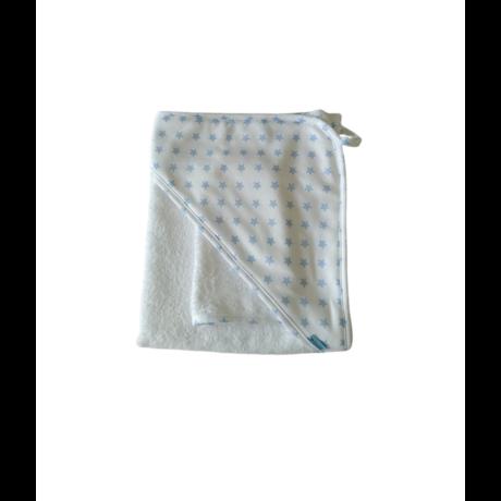 Fürdőlepedő fehér-kék csillagos-gbaby.hu