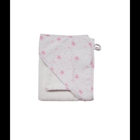 Fürdőlepedő fehér-rózsaszín csillag-gbaby.hu