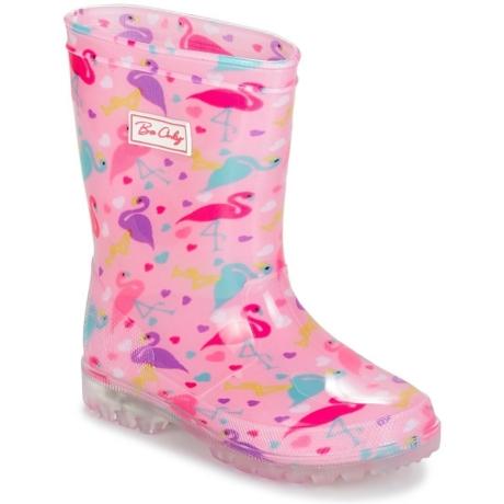Be Only villogó talpú gumicsizma rózsaszín flamingó