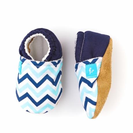 Funkidz kék cikk-cakk puhatalpú cipő G-Baby Boutique