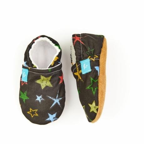 Funkidz puhatalpú cipő fekete-színes csillagok
