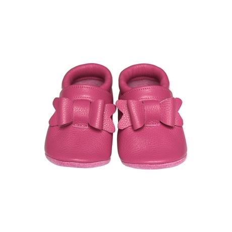 bőr puhatalpú cipő pink masnis gbaby.hu