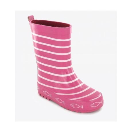Be Only gumicsizma rózsaszín csíkos