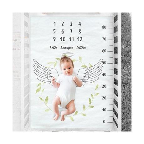 Angyalkás hónap takaró fotózáshoz G-Baby Boutique
