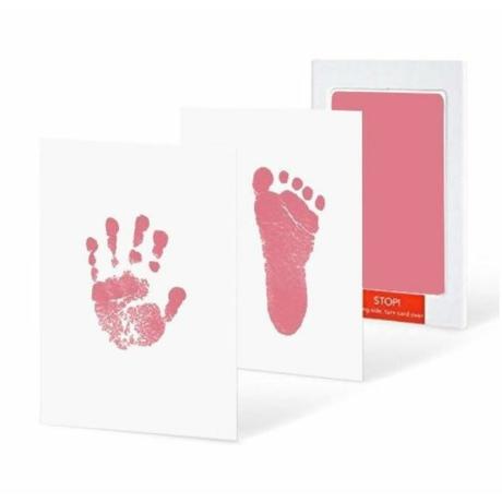 Rózsaszín kéz- és láblenyomat készítő - G-Baby Boutique