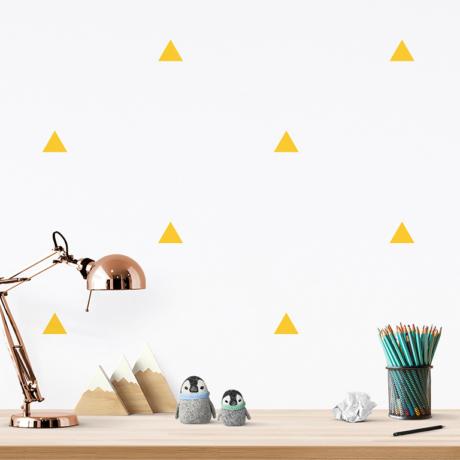 Háromszög falmatrica sárga