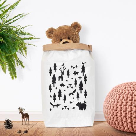 Erdő papírzsák fekete