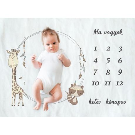Zsiráfos hónap takaró fotózáshoz G-Baby Boutique
