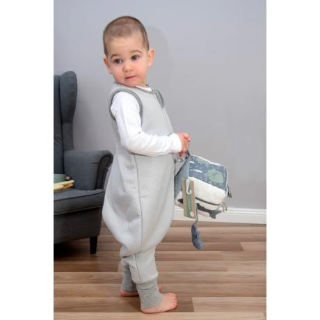 Szürke steppelt bélelt tipegő hálózsák -G-Baby Boutique