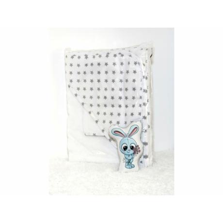 Kapucnis fürdőlepedő fehér-szürke csillag 110*110