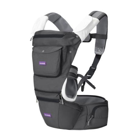 Clevamama ergonomikus 5 pozíciós babahordozó szürke