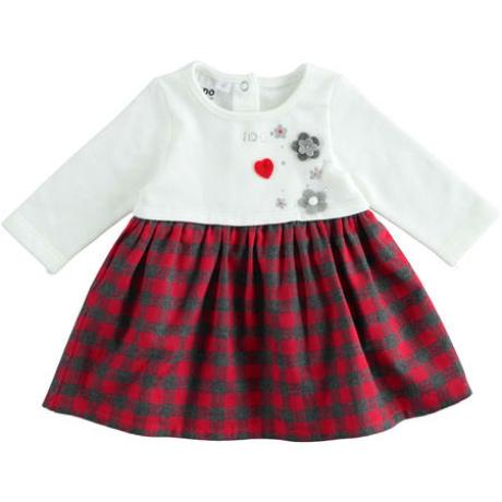 IDO piros kockás lányka ruha -G-Baby Boutique
