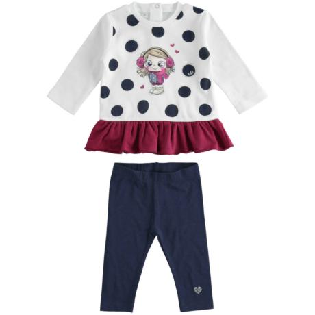 Ido 2 részes nadrágos szett - Pöttyös-kislányos - G-Baby Boutique