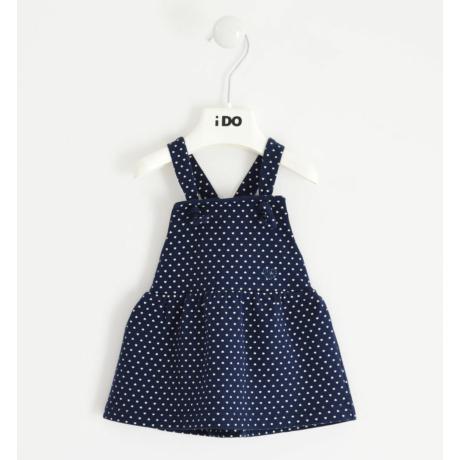 IDO sötétkék apró szívecskés kötényruha -G-Baby Boutique