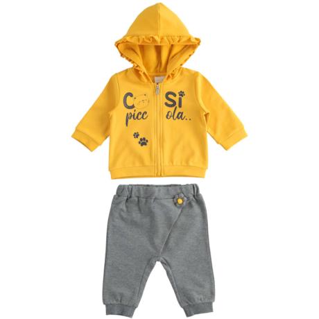 Ido 2 részes kislány szett - Sárga cicás - G-Baby Boutique
