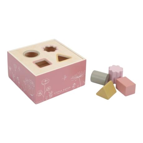 Little Dutch pink fa formabedobó kocka