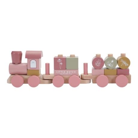 Pink vonat fából G-Baby