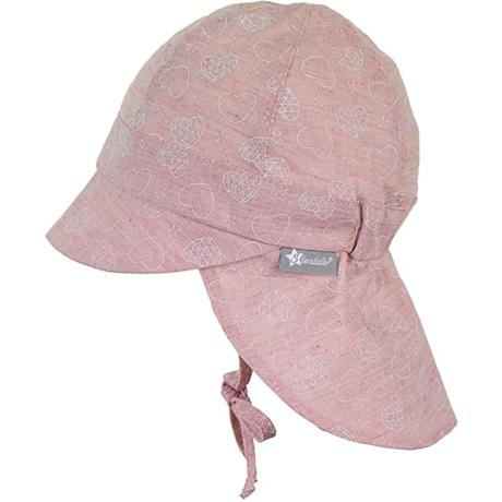 Sterntaler kislány nyakvédős kalap púder