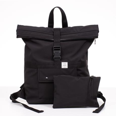 Lilla Sellei közepes fekete táska/hátizsák G-Baby Boutique
